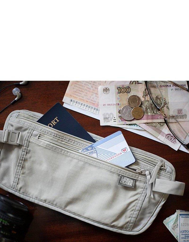 LEWIS N CLARK 1268 TAN RFID  MONEYBELT