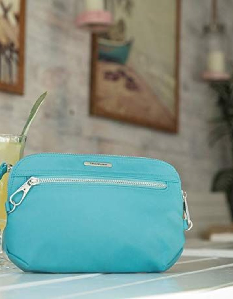 TRAVELON 43202 AQUAMARINE ANTI THEFT CONVERTIBLE CROSSBODY