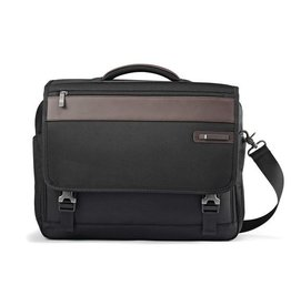 SAMSONITE BLACK BROWN FLAPOVER BRIEFCASE