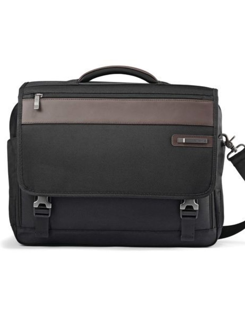 SAMSONITE 923141051 BLACK BROWN FLAPOVER BRIEFCASE