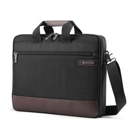 SAMSONITE BLACK BROWN SLIM BRIEF