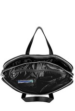 NEXTECH NXT1035 BLACK LEATHER COMPUTER BAG