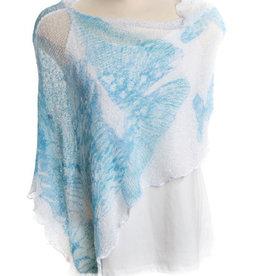 SHARANEL CAPLET SHORT BUTTERFLY BLUE