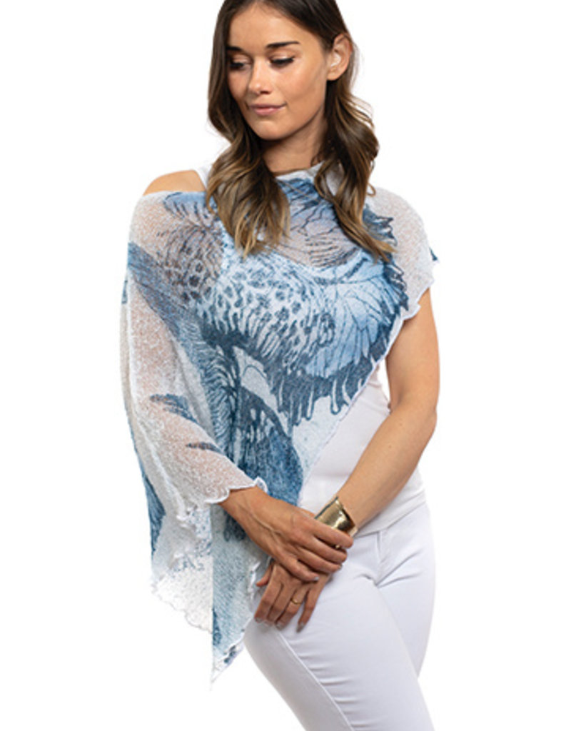 SHARANEL 101 SHORT CAPLET BUTTERFLY BLUE