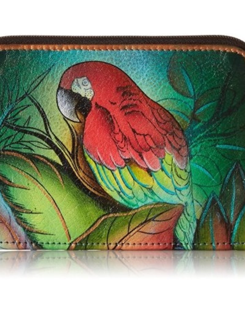 ANUSCHKA 1124 Zip Around Credit Card Case  1124