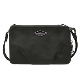 TRAVELON Anit-Theft Parkview Double Zip Crossbody Clutch