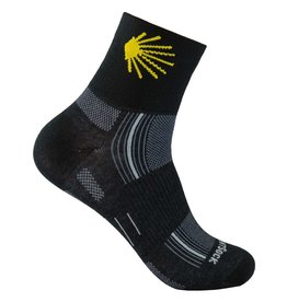 WRIGHTSOCK CAMINO STRIDE CREW SOCK MEDIUM BLACK