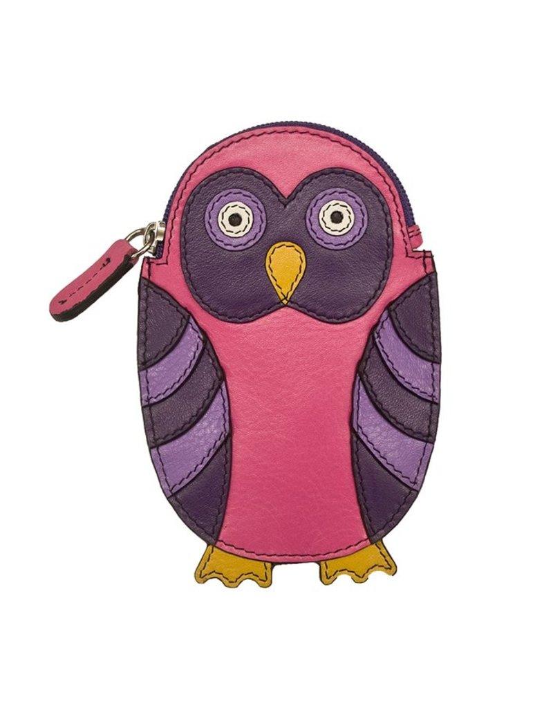 ILI 6487 OWL LEATHER COIN PURSE