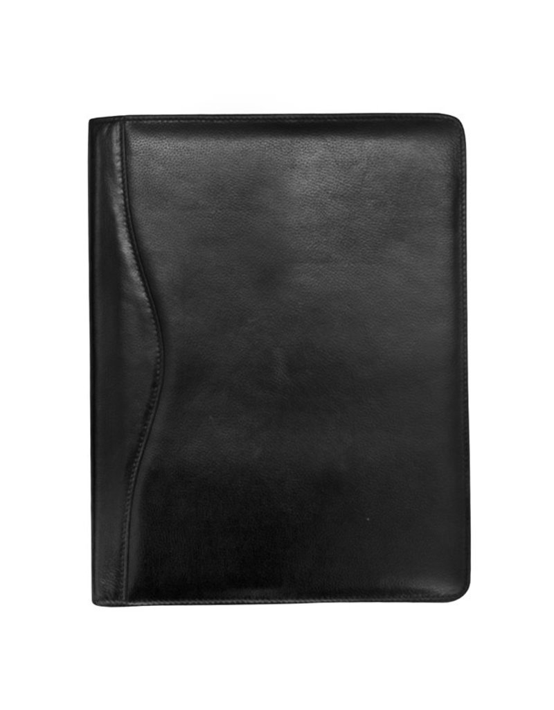 ILI 6311 LEATHER ZIP AROUND PORTFOLIO BLACK