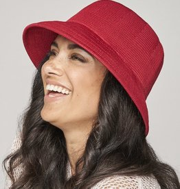 PARKHURST 17148 RED BERMUDA BUCKET  HAT