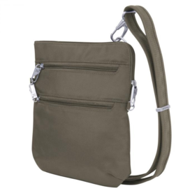 TRAVELON NUTMEG ANTI THEFT CROSSBODY TRAVELON 43116