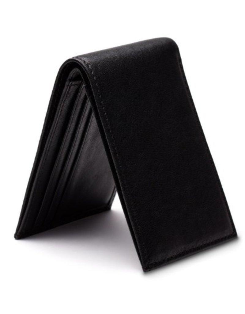 BOSCA 81150 BLACK RFID NAPPA BIFOLD WALLET