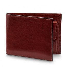 BOSCA RFID LEATHER EXECUTIVE WALLET W COIN DARK BROWN