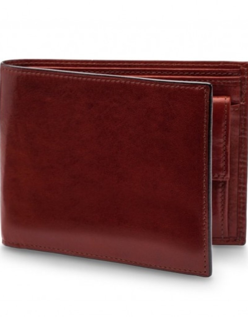 BOSCA 19458 RFID LEATHER EXECUTIVE WALLET W COIN DARK BROWN