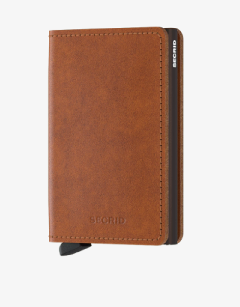 SECRID SLIMWALLET  RFID COGNAC BROWN