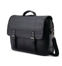 SAMSONITE LEATHER FLAPOVER (15.6) ASSORTED COLOURS