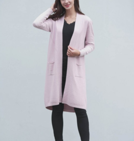 LONG CASHMERE FEEL OPEN DUSTER W/POCKETS ASSORTED SIZES