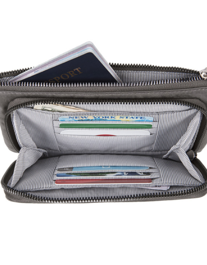 TRAVELON 43404 RFID BLOCKING PHONE CLUTCH WALLET