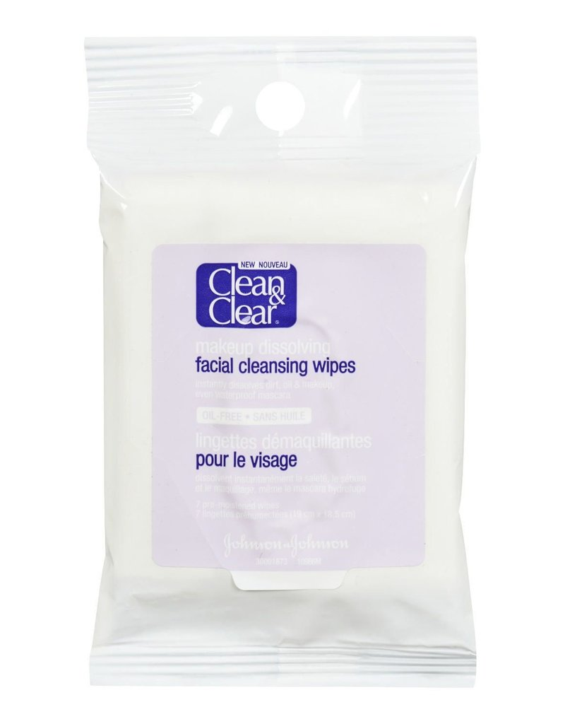 CLEAN & CLEAR FACIAL CLEANSING WIPES 7 wipes a package