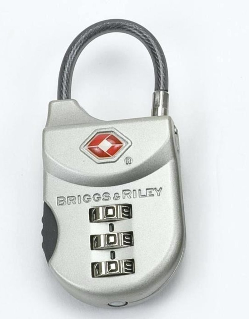 BRIGGS & RILEY W14 SATIN NICKEL TSA CABLE LOCK