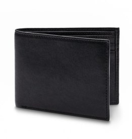 BOSCA LEATHER NAPOLI WALLET RFID BLOCKING BLACK