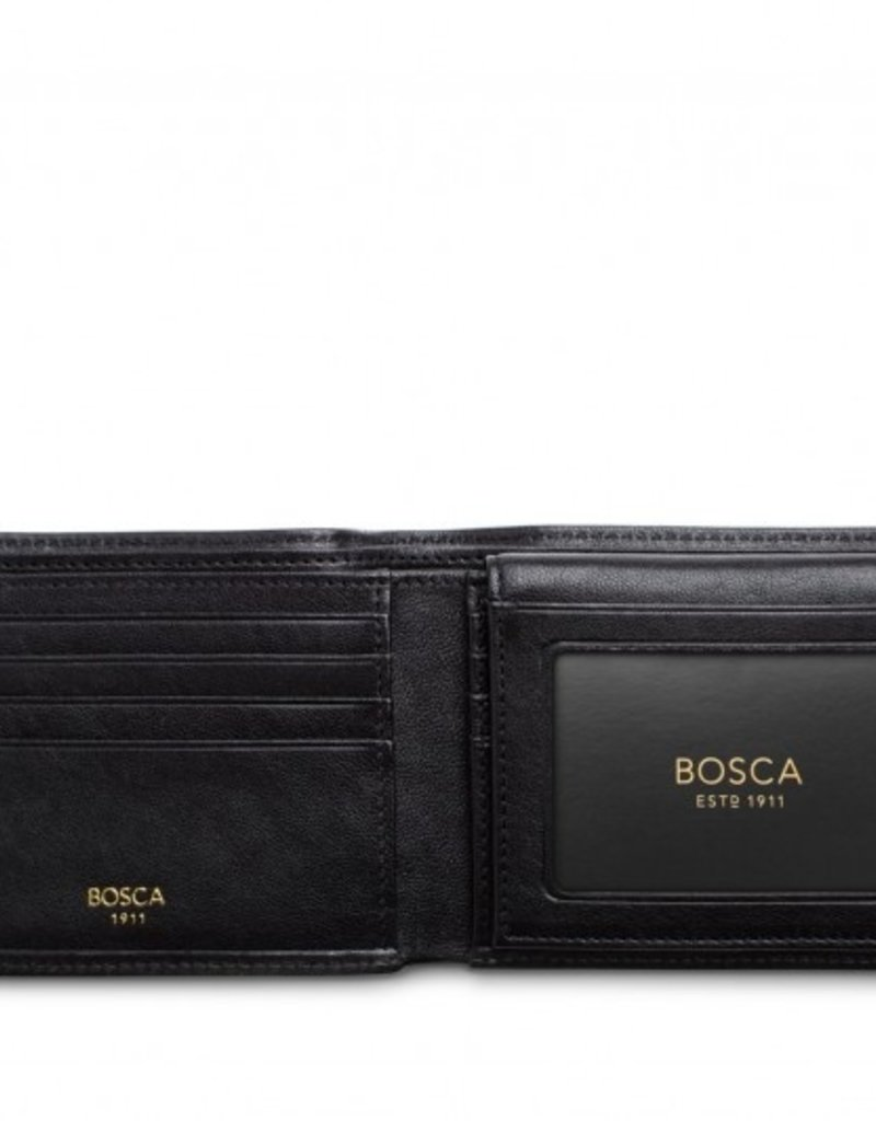 BOSCA 195-150 RFID NAPOLI BLACK LEATHER WALLET