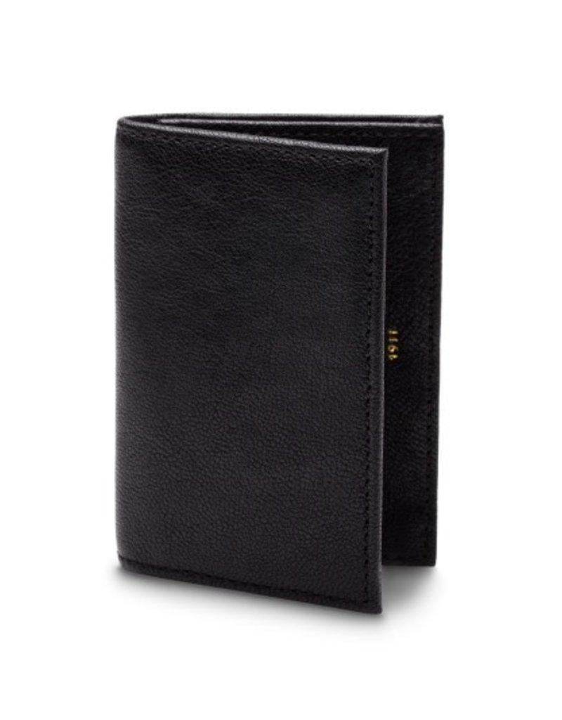 BOSCA 449-150 RFID BLACK NAPOLI LEATHER FULL GUSSET WALLET