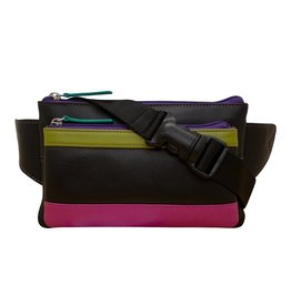 ILI LEATHER WAIST POUCH RFID BLOCKING ASSORTED COLOURS