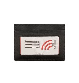 ILI LEATHER CARD HOLDER RFID BLOCKING ASSORTED COLOURS