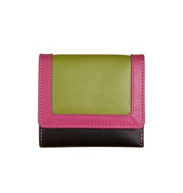 ILI COMPACT LEATHER WALLET RFID BLOCKING ASSORTED COLOURS