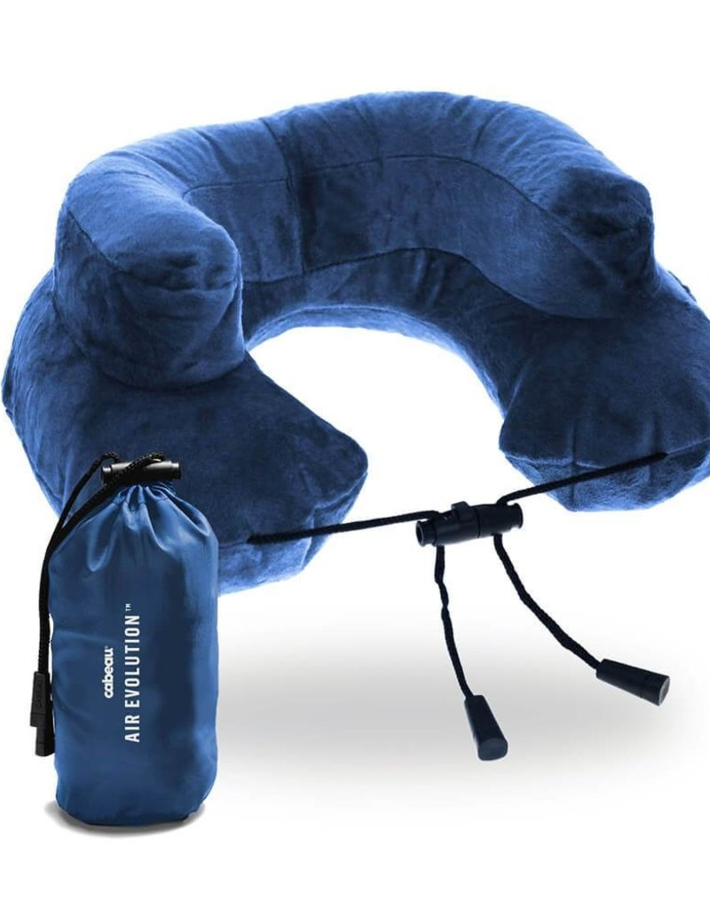 CABEAU TPAE2184 ROYAL AIR EVOLUTION INFLATABLE NECK PILLOW  ROYAL BLUE