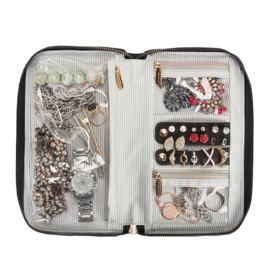 TRAVELON 43522 ZIPPERED JEWELRY CASE TRAVELON