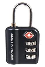 AUSTIN HOUSE TSA APPROVED 3 DIAL COMBO LOCK AH22CD01 BLACK