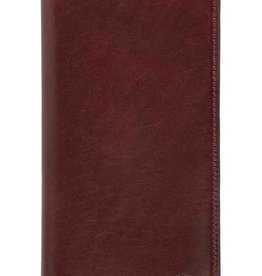 MANCINI LEATHER RFID BROWN BREAST POCKET WALLET  MANCINI