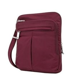 TRAVELON ANTI THEFT LIGHT SLIM CROSSBODY BAG  BERRY #