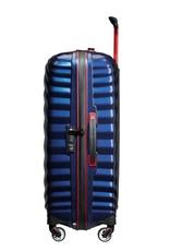 SAMSONITE SAMSONITE LITE-SHOCK SPORT BLACK LABEL MEDIUM SPINNER BLUE/RED