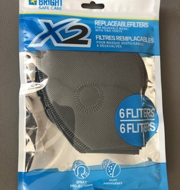BRIGHT SAFE CARE X2 PERFORMANCE MASK REPLACEMENT FILERS PACK OF 6