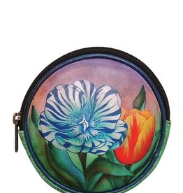 ANUSCHKA ANUSCHKA ROUND LEATHER  KEY POUCH AND COIN