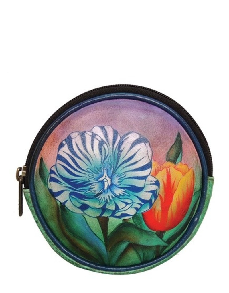 ANUSCHKA 1106 TTP LEATHER  ROUND KEY POUCH AND COIN