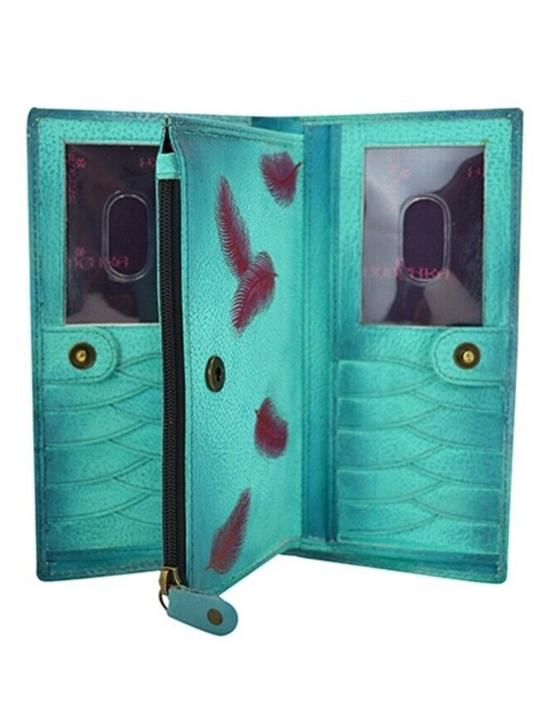 ANUSCHKA LEATHER  WALLET FLOATING FEATHERS 1088 FFT