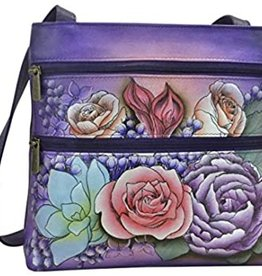 ANUSCHKA ANUSCHKA 447 LLC LEATHER COMPACT CROSSBODY LUSH LILAC