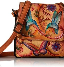 ANUSCHKA ANUSCHKA TRIPLE COMPARTMENT CROSSBODY  483 FLYING JEWELS