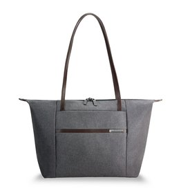 BRIGGS & RILEY BRIGGS AND RILEY GREY HORIZONTAL TOTE
