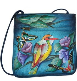 ANUSCHKA ANUSCHKA SLIM CROSSBODY WITH FRONT ZIP 452 HAWAIIN TWILIGHT