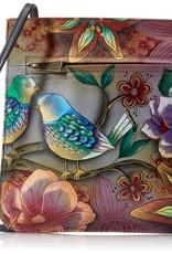 ANUSCHKA 452 BLB LEATHER CROSSBODY BLISSFUL BIRDS