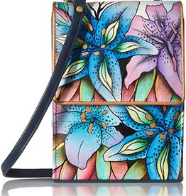 ANUSCHKA ANUSCHKA TRIPLE COMPARTMENT CROSSBODY ORGANIZER 412  LLY  LUSCIOUS LILIES