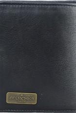 ANUSCHKA ANUSCHKA RFID  LEATHER WALLET TRIFOLD CALAVERAS DE AZUCAR