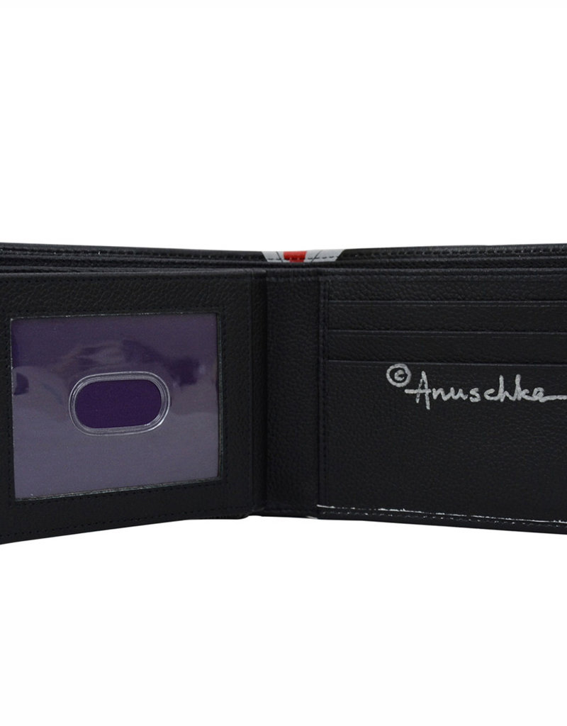 ANUSCHKA 3000 HGH RFID  LEATHER TWO FOLD WALLET HIGH ROLLER