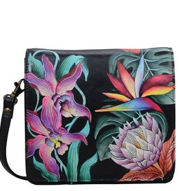 ANUSCHKA ANUSCHKA 669 SMALL  MESSENGER LEATHER