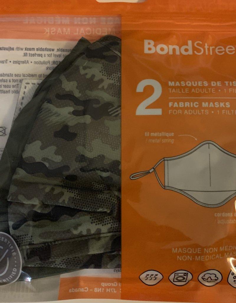 BOND STREET KIDS COTTON FACE MASK   2 MASKS + 1 FILTER